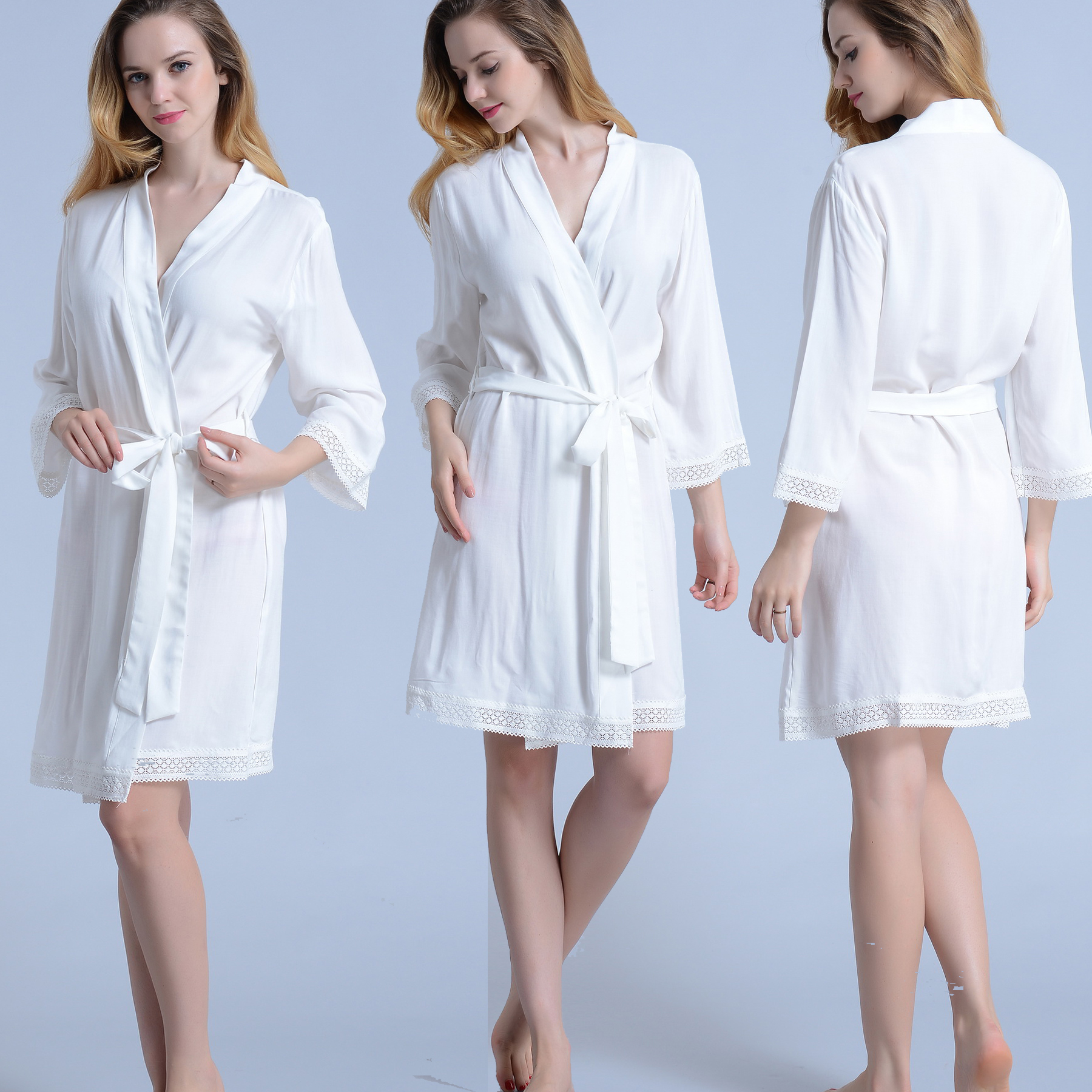 Luxury White Lace Bridal Robe – Robe Master