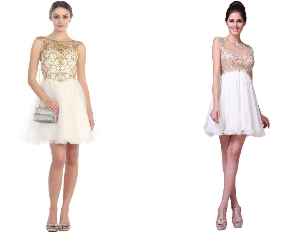 A Serene White Dress for B'day Parties