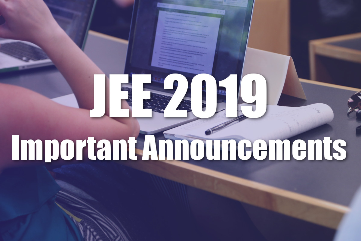 JEE Main 2019: Date and Exam Centre Released