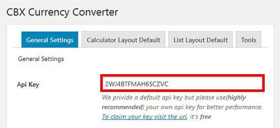 added the API key